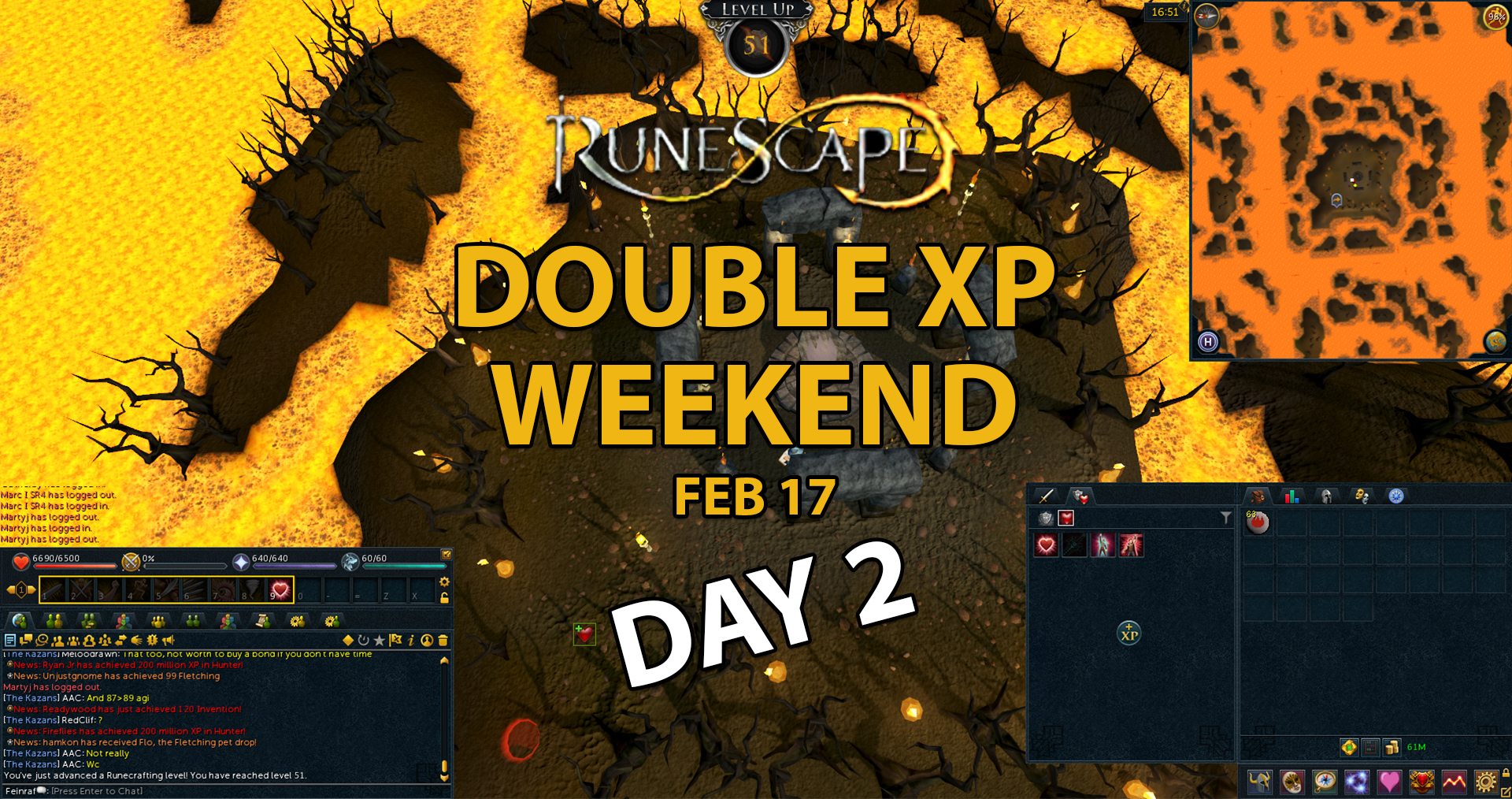 runescape double xp weekend day two blog feinraf
